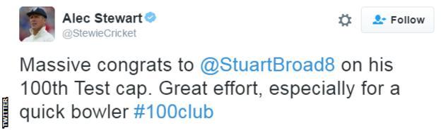 Alec Stewart tweet