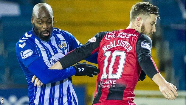 Kilmarnock and St Mirren will meet at Rugby Park on Monday to decide which team will complete the semi-final line-up