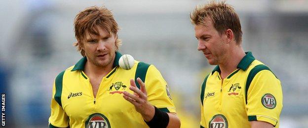 Shane Watson (left) and Brett lee (right)