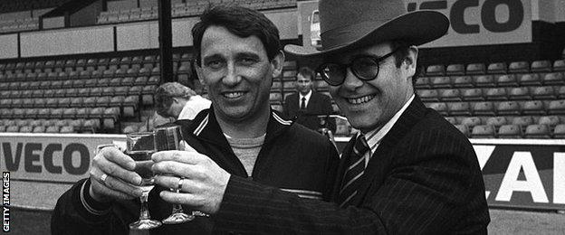 Graham Taylor and pop star Elton John teamed up to take Watford from the bottom division to the top-flight