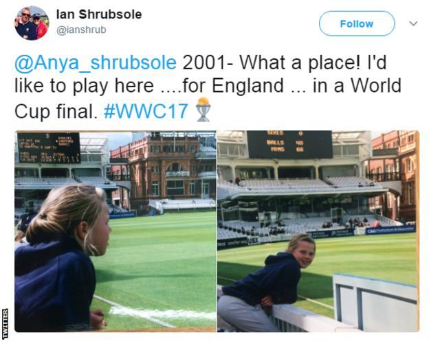 Ian Shrubsole tweet