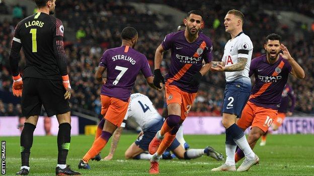 Tottenham Hotspur Manchester City Riyad Mahrez Returns City To Premier League Summit BBC Sport