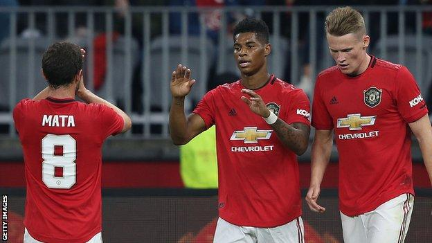 Man Utd 4-0 Leeds: Ole Gunnar Solskjaer's side comfortably win friendly in Australia