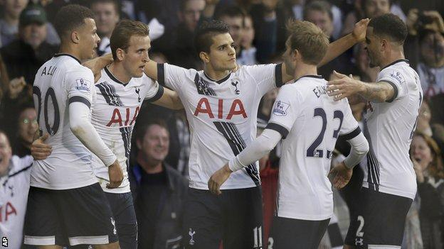 Harry Kane celebrates his second goal