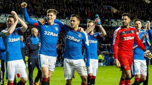 Rangers will be playing in the Premiership next season