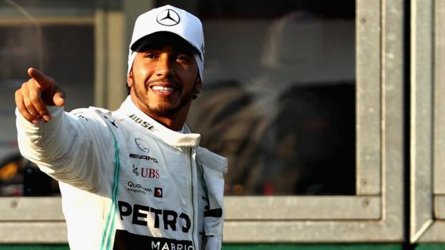 Lewis Hamilton on pole in Australia thumbnail