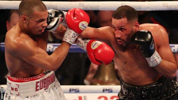 DeGale (right) moved more fluently around the midway point but punched sparingly