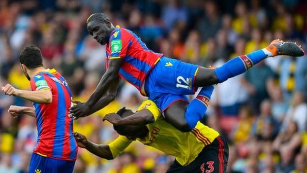 Mamadou Sakho in action against Watford