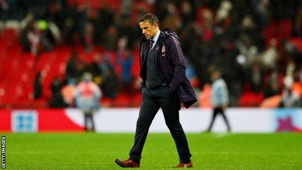 Phil Neville, England women's manager Phil Neville