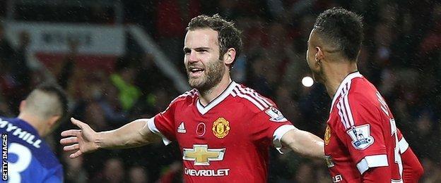 Juan Mata's goal was his fifth of the season