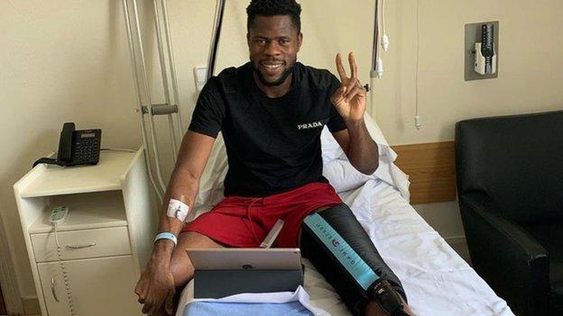 Francis Uzoho recovering in hospital Instagram
