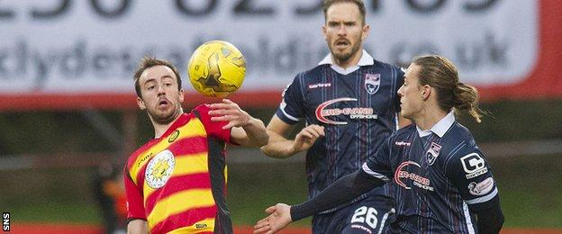 Partick Thistle and Ross County players