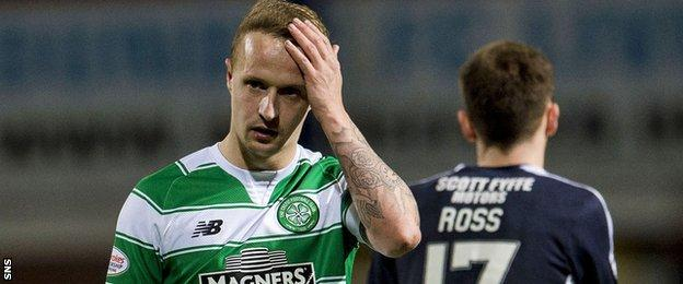 Celtic's Leigh Griffiths shows his frustration
