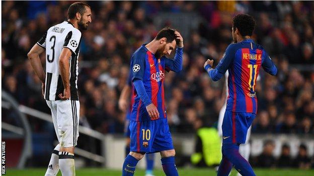 Barcelona have failed to reach the Champions League semi-finals for the second successive season