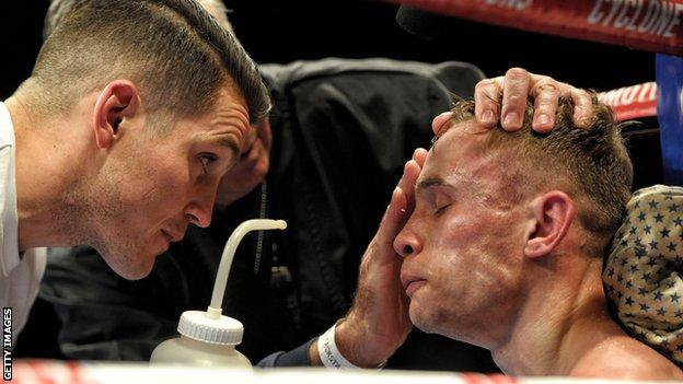 Haye's trainer Shane McGuigan (left) and Bellew's coach Dave Coldwell have both recently tasted defeat