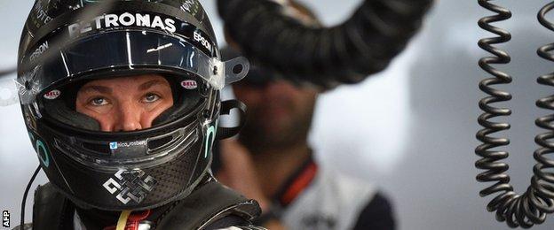 Nico Rosberg has won five races to Hamilton's six this season