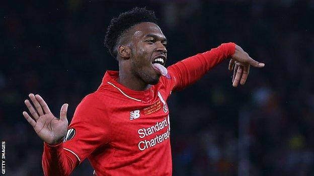 Daniel Sturridge, with his trademark dance routine for celebrating a goal