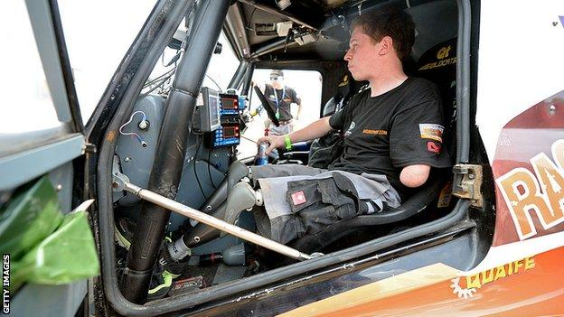 Former British paratrooper Thomas Neathway competed in the Dakar Rally in 2013