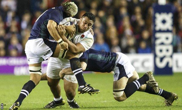 Blair Cowan gets to grips with Mako Vunipola