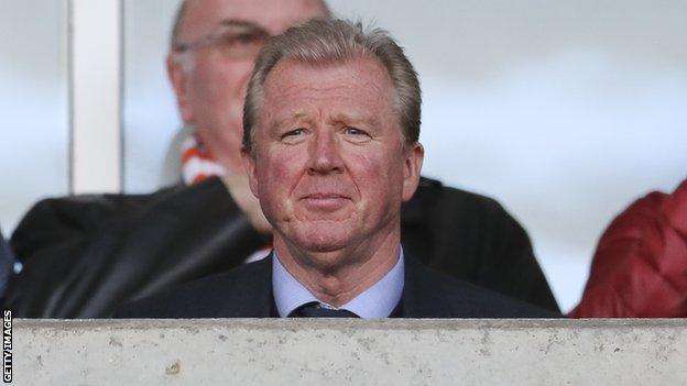 Former England manager Steve McClaren
