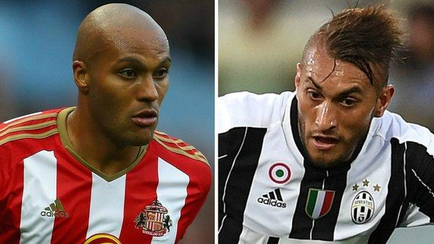 Younes Kaboul and Roberto Pereyra