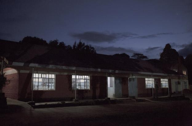 Classrooms at st Patrick's are illuminated in the dark