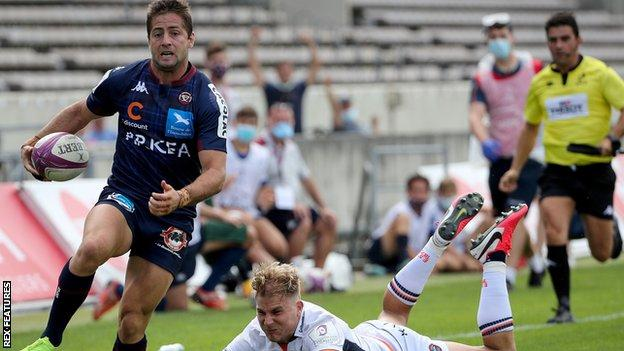 Bordeaux raced into a 14-0 lead and held off Edinburgh's fightback