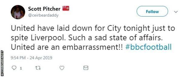 Liverpool fan Scott Pitcher's twitter account