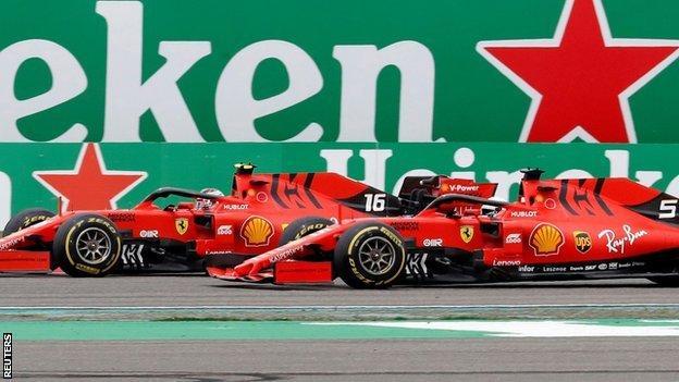 Charles Leclerc is ordered to let Sebastian Vettel past