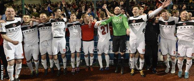 North Belfast club Crusaders have retained the Irish Premiership title
