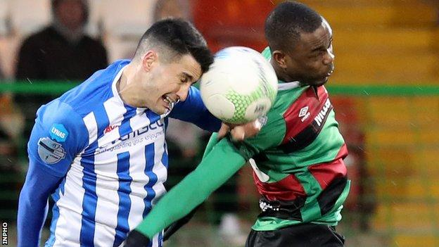 Coleraine and Glentoran are both at home in their Europa League ties
