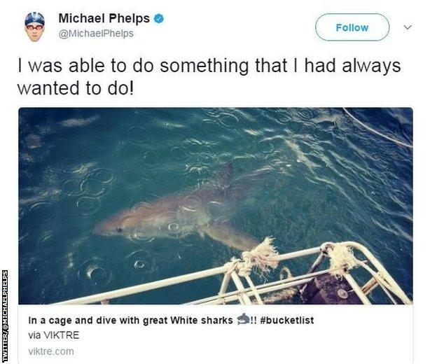 Michael Phelps on Twitter