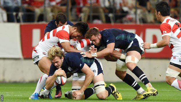 Japan and Scotland players