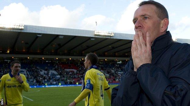 Kenny Shiels finds it hard to celebrate despite Kilmarnock's League Cup win