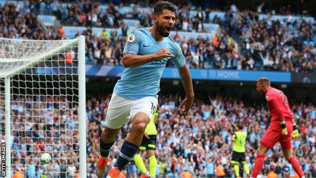 Sergio Aguero: Manchester City striker signs one-year extension until 2021