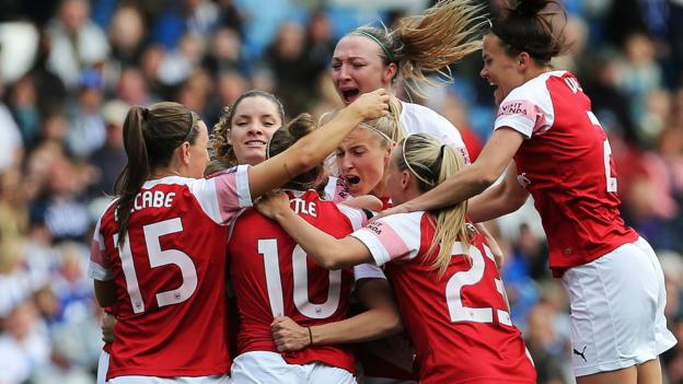 Women's Super League: Brighton & Hove Albion Women 0-4 Arsenal Women thumbnail