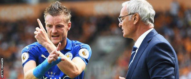 Jamie Vardy and Claudio Ranieri