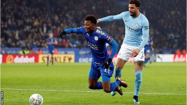 Kyle Walker and Demarai Gray