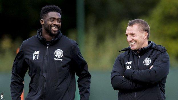 Kolo Toure (left) has rejoined Celtic