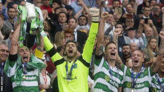 Craig Gordon won the Scottish Cup twice during his six years with Celtic