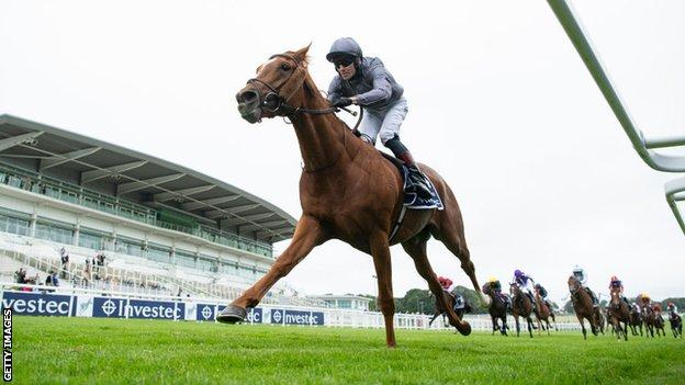 Serpentine was a runaway winner of the Derby at Epsom in July