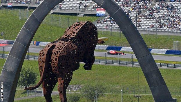 The Red Bull ring, the hose of the next grand prix
