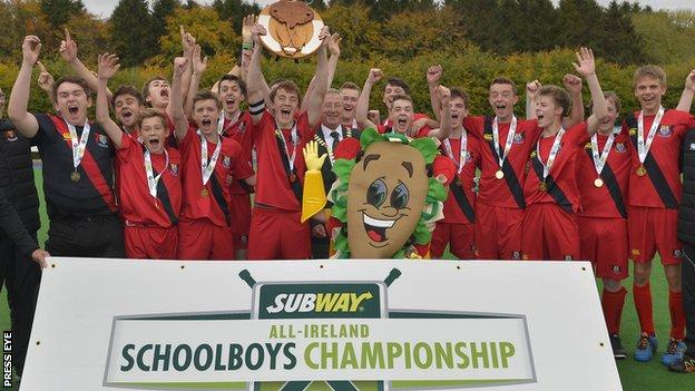 Banbridge Academy celebrate their All-Ireland triumph