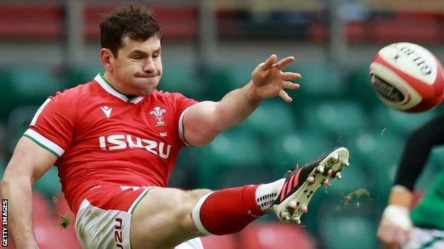 Tomos Williams in action for Wales