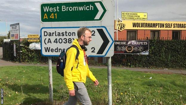 Ryan Pitcher en route to West Bromwich Albion