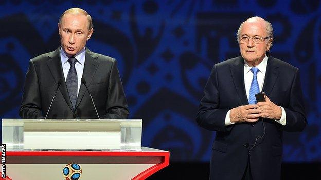 Blatter was in charge of Fifa when Russia won the right to host the 2018 World Cup