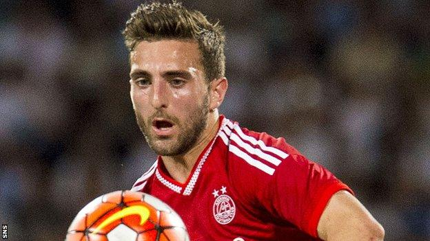 Aberdeen left-back Graeme Shinnie