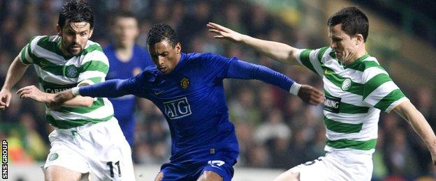 Nani played at Celtic Park for Manchester United in 2008