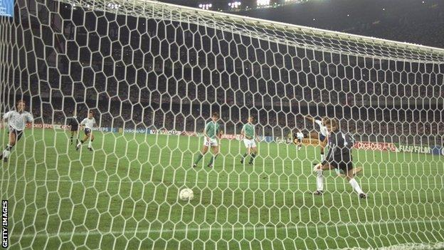Gary Lineker scored for England against Germany in the World Cup semi-final at Italia 90