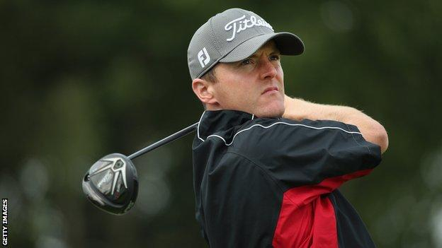 Michael Hoey had a hole-in-one on Thursday in Switzerland